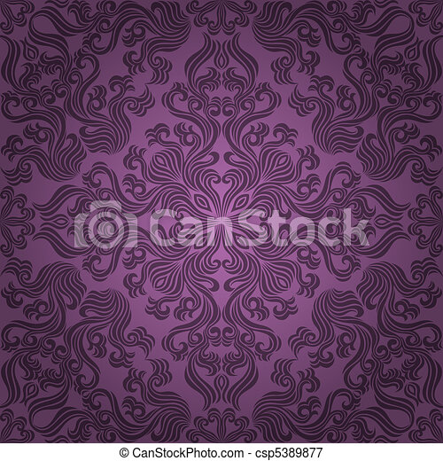 Seamless floral pattern. Vector ill - csp5389877