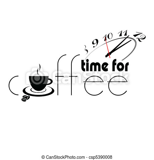 time for coffee part two illustrati - csp5390008