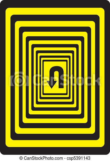 Caution - Almost Forward - csp5391143