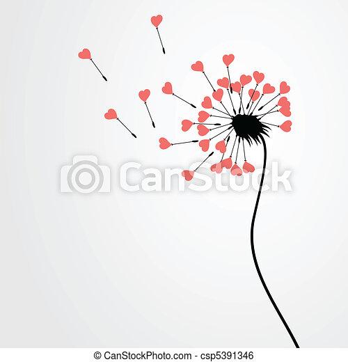 Love dandelion - csp5391346