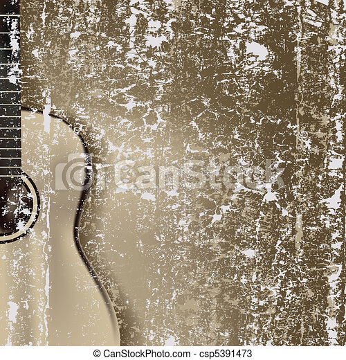 abstract cracked background classical guitar - csp5391473