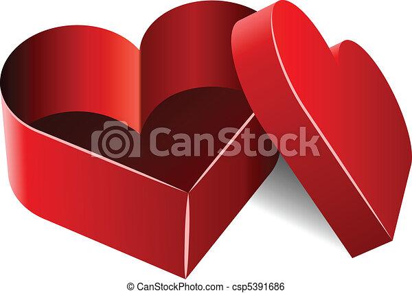 Heart Shaped Box Drawing Heart Shaped Box Csp5391686