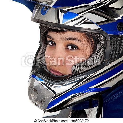 Young Latina Racer - csp5392172