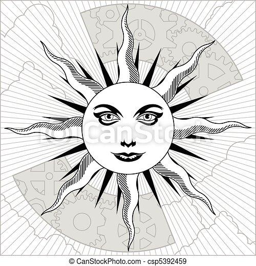Celestial sun - csp5392459