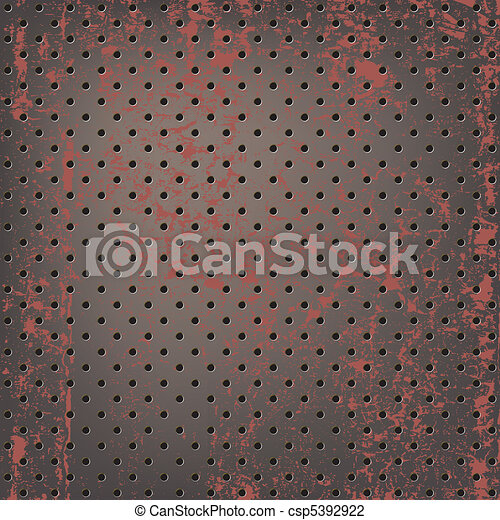 Texture of rusty metallic mesh - csp5392922