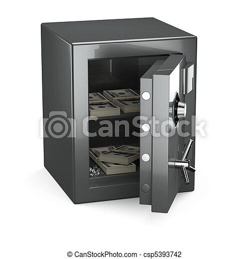 Opened safe - csp5393742