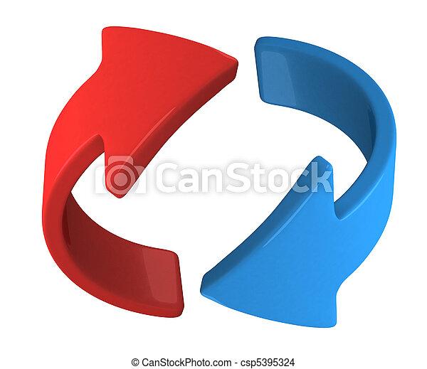 blu, ruotare, freccia - csp5395324