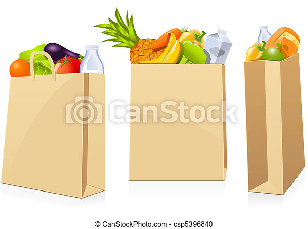 Grocery shopping bags - csp5396840