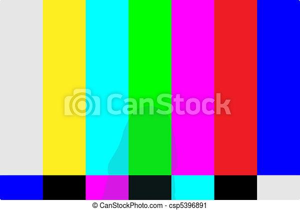 TV Test Pattern - csp5396891