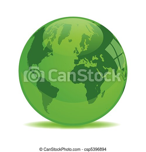 Green Earth Orb - csp5396894