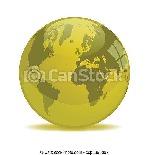Yellow Earth Orb - csp5396897
