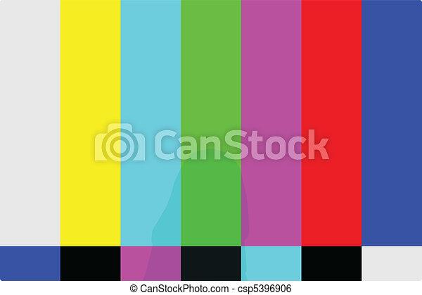 TV Test Pattern - csp5396906