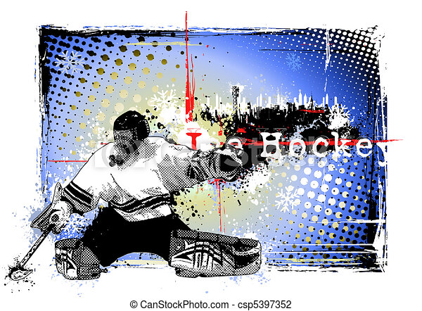 ice hockey poster - csp5397352