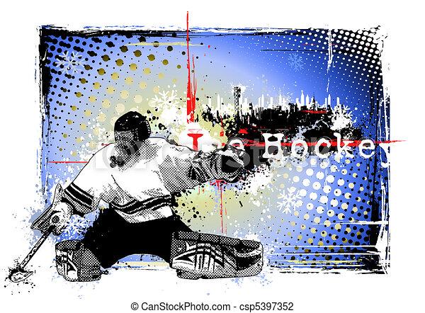 ice hockey poster - csp5397352
