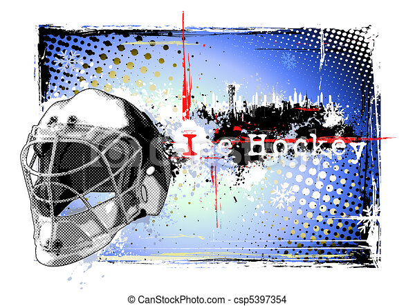 ice hockey poster - csp5397354