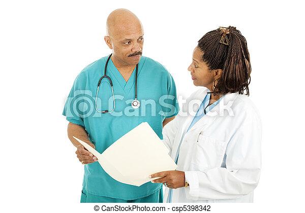 Medical Doctors Reading Chart - csp5398342