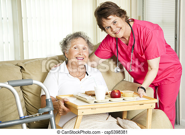 Lunch at the Nursing Home - csp5398381