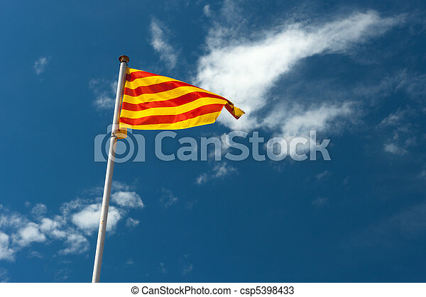 Catalan flag - csp5398433