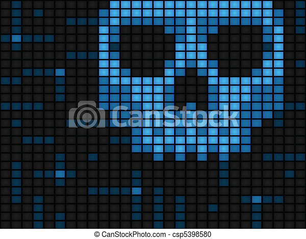 Computer virus background - csp5398580