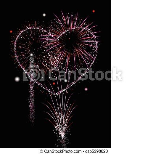 vektor clipart von feuerwerk liebe valentines tag feuerwerk in rosa csp5398620. Black Bedroom Furniture Sets. Home Design Ideas
