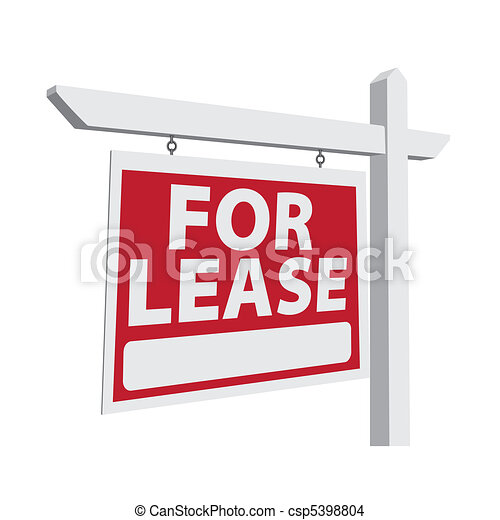 For Lease Vector Real Estate Sign - csp5398804