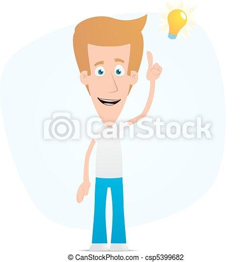 Casual man visited idea - csp5399682