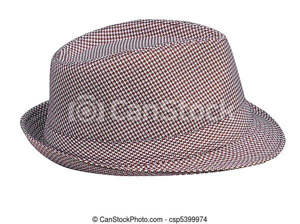 Houndstooth Pattern Mans Hat - csp5399974