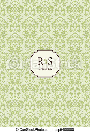 Vector Mini Initials Frame and Background - csp5400000