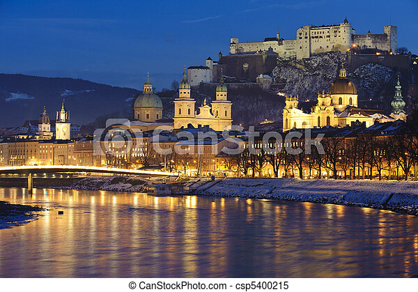 city Salzburg in Austria - csp5400215