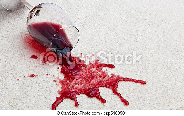 Red wine glass dirty carpet. - csp5400501