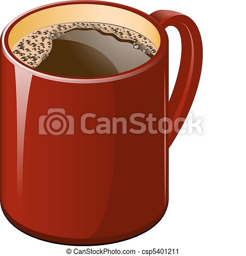 Red cup of coffee - csp5401211