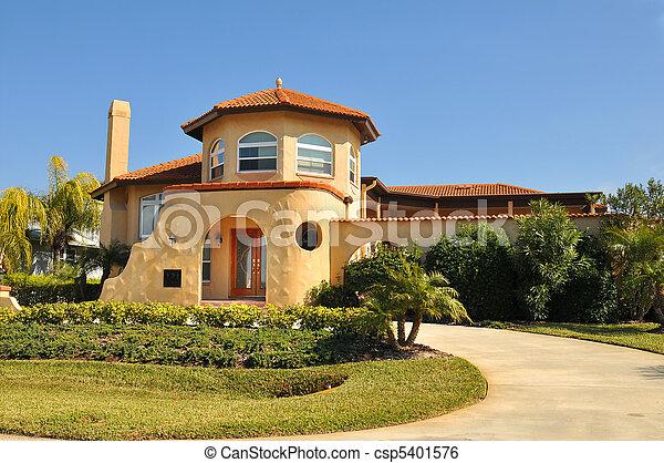 Spanish home with Pueblo hint - csp5401576