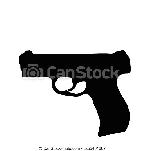 Weapons Silhouette Collection - Firearms - csp5401807