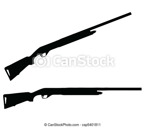 Weapons Silhouette Collection - Firearms - csp5401811