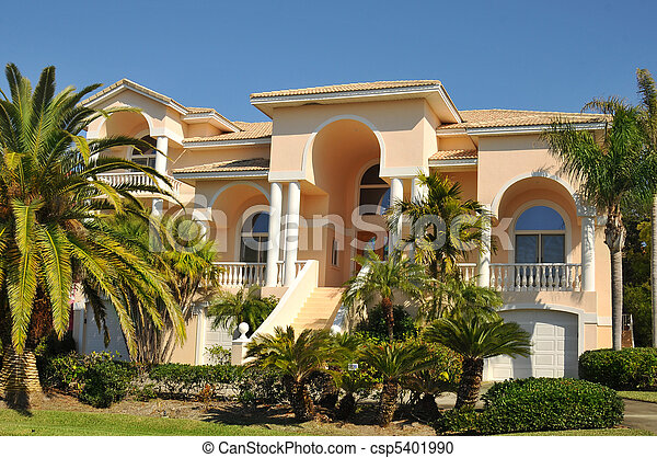 Enormous neo-mediterranean home - csp5401990