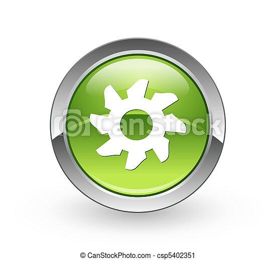 Gear - Green sphere button - csp5402351