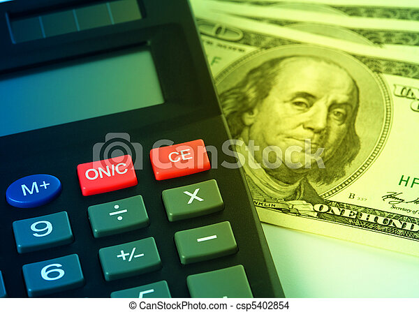 Calculator and money - accounting concept - csp5402854