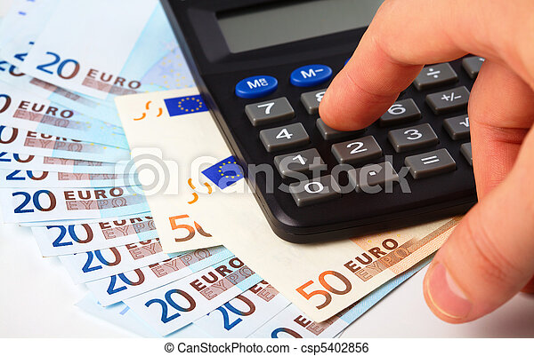 Calculator and money - accounting concept - csp5402856