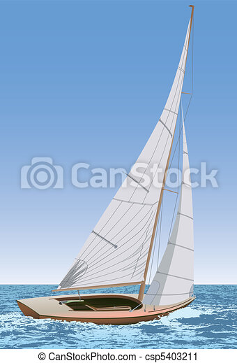 Sailing boat - csp5403211