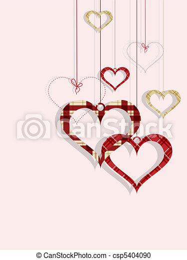 St Valentine day's greeting card - csp5404090