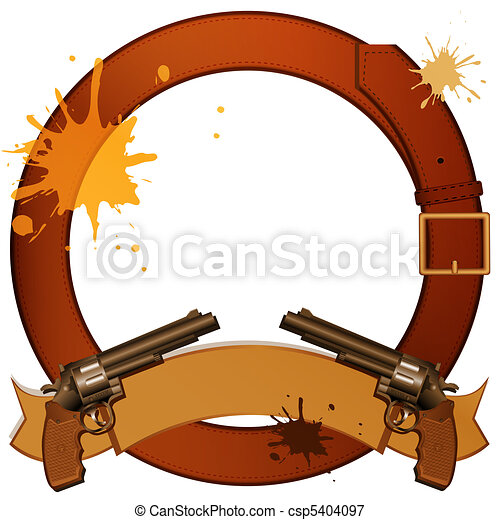 Revolvers and belt - csp5404097