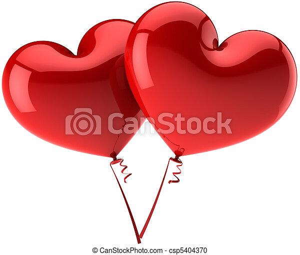 Banco de fotografia de cora o amor bal es dois - Clipart amour ...