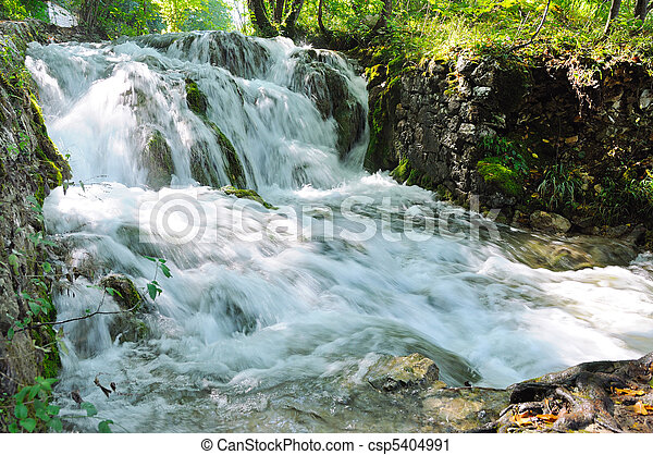 Waterfall in the forest - csp5404991