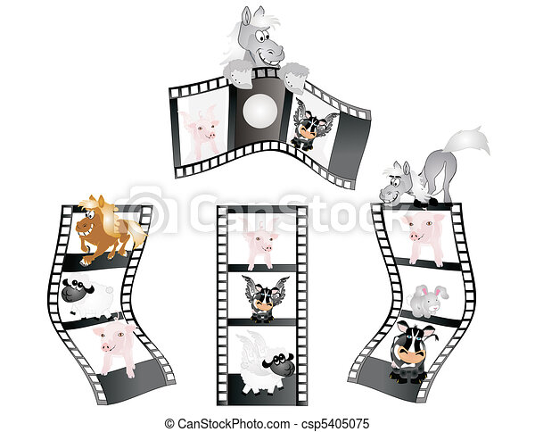 Farm animals on film.. - csp5405075