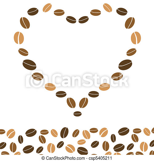 hearts coffee background with love - csp5405211