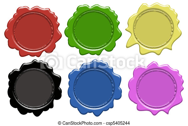 Set of wax seals - csp5405244