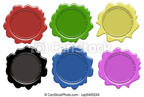 Set of wax seals - csp5405244