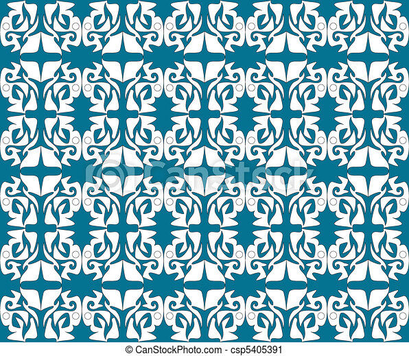 Antique scroll seamless wallpaper - csp5405391