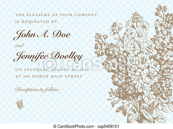 Vector Blue Pastel Bouquet Background - csp5406101