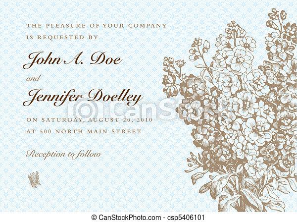 Vector Blue Pastel Bouquet Background - csp5406101